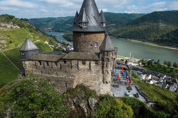 Blick von Burg Stahleck ins Mittelrheintal - Bild Nr. 201409271313