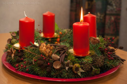 Adventskranz zum 1. Advent
