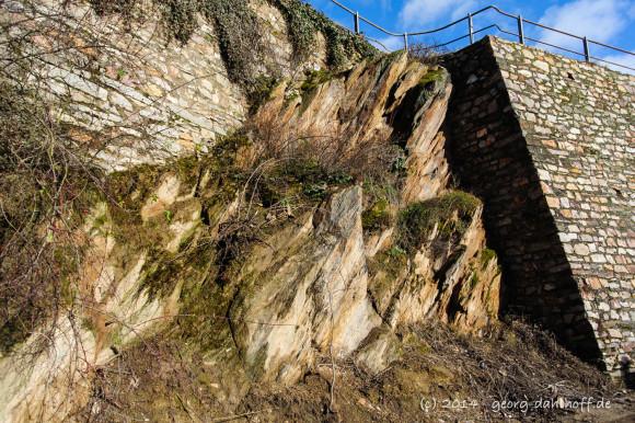 Schieferfelsen und Terrassenmauern im Rheingau - Bild Nr. 201402162335
