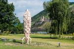 "Skulptur ""Crazy Daisy"" im Park am Mäuseturm - Bild Nr. 201406220786"