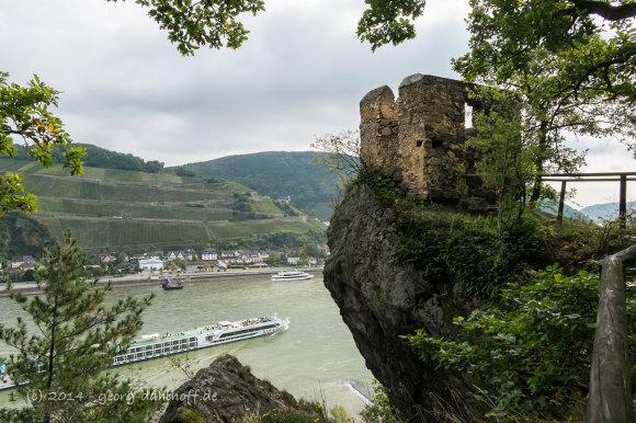 Aussichtspunkt nahe Burg Rheinstein - Bild Nr. 201409271300