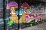 Graffiti in der Bahnunterführung  am Nahe-Eck - Bild Nr. 201502224125